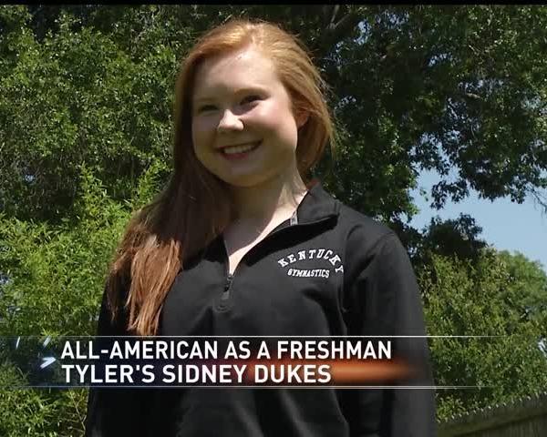 Tyler gymnast Sidney Dukes All-American as freshman at UK_81160963-159532