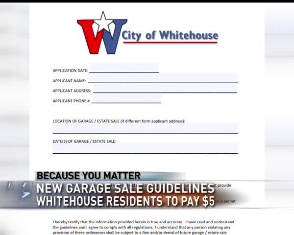 Whitehouse residents to pay fee for garage sales_19001602-159532
