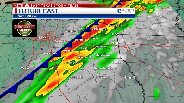 Weather Alert: Severe storms likely today