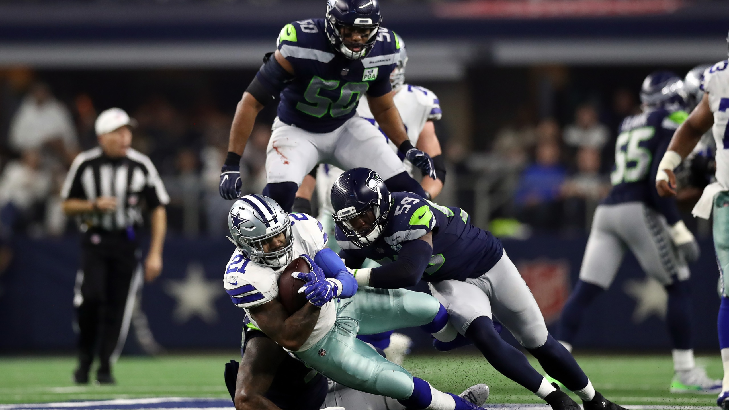 Dallas vs Seattle 2019 wildcard playoff Getty