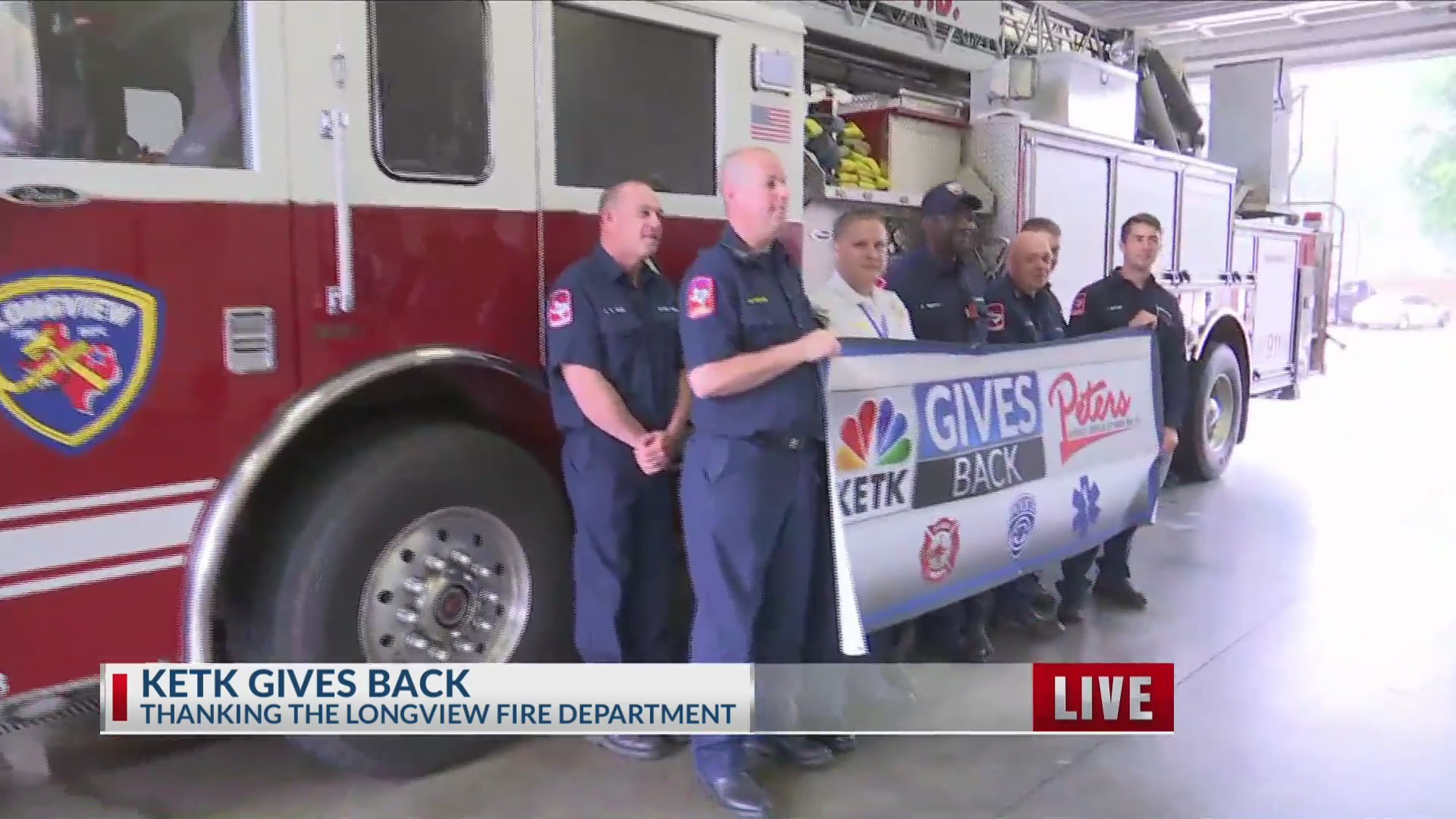 KETK Gives Back to the Longview Fire Department