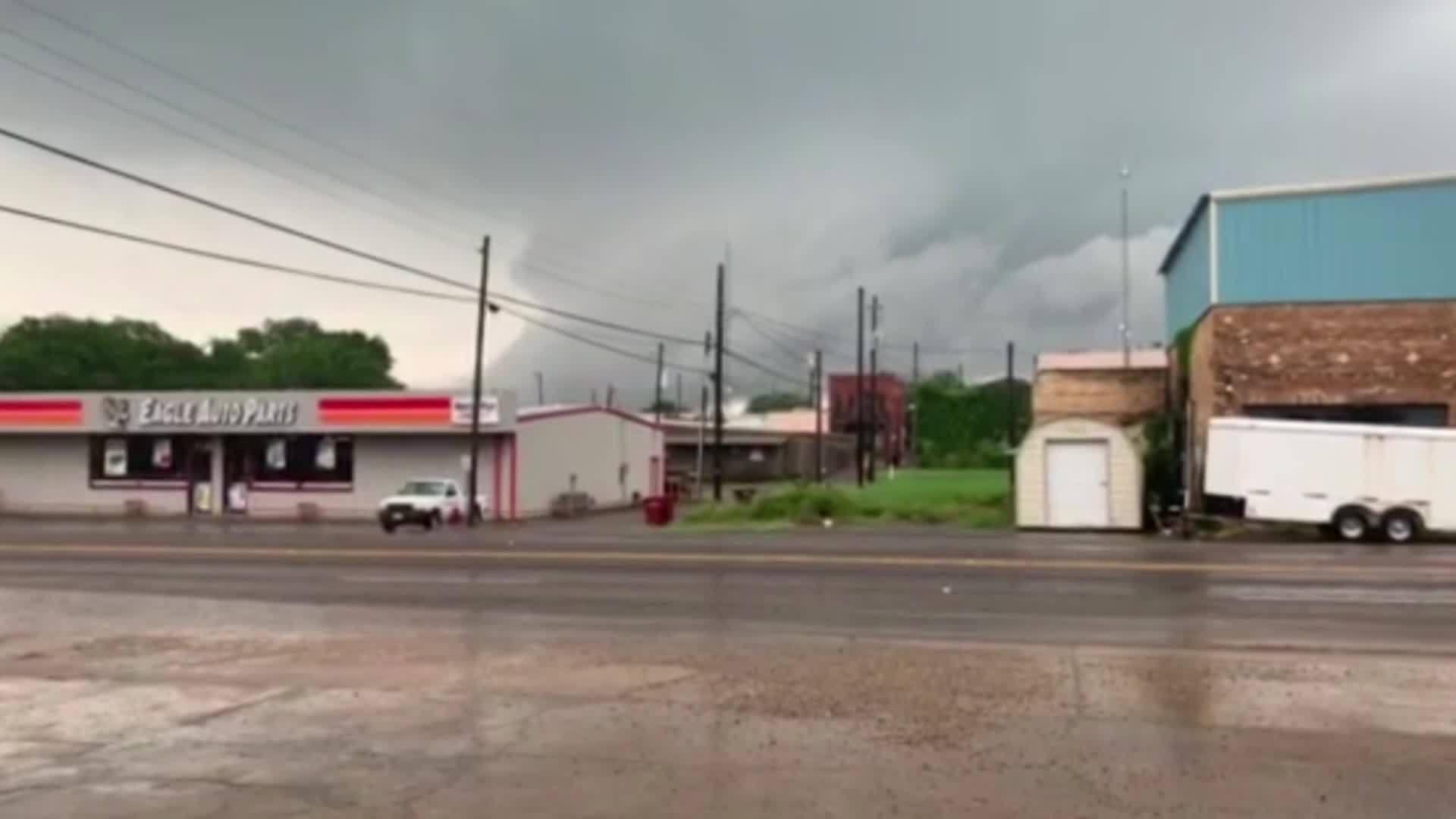 Tornado sirens wail in Grand Saline