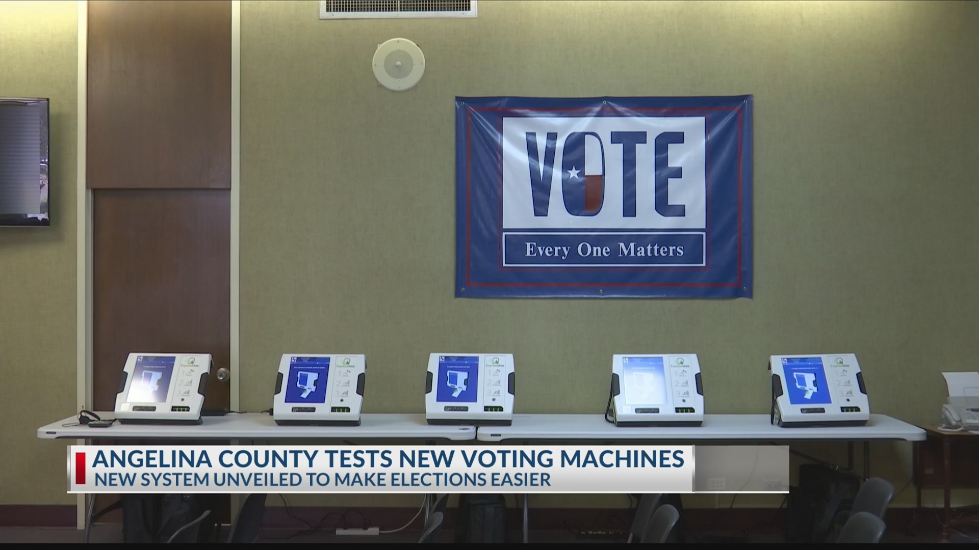 Angelina County unveils new voting machines