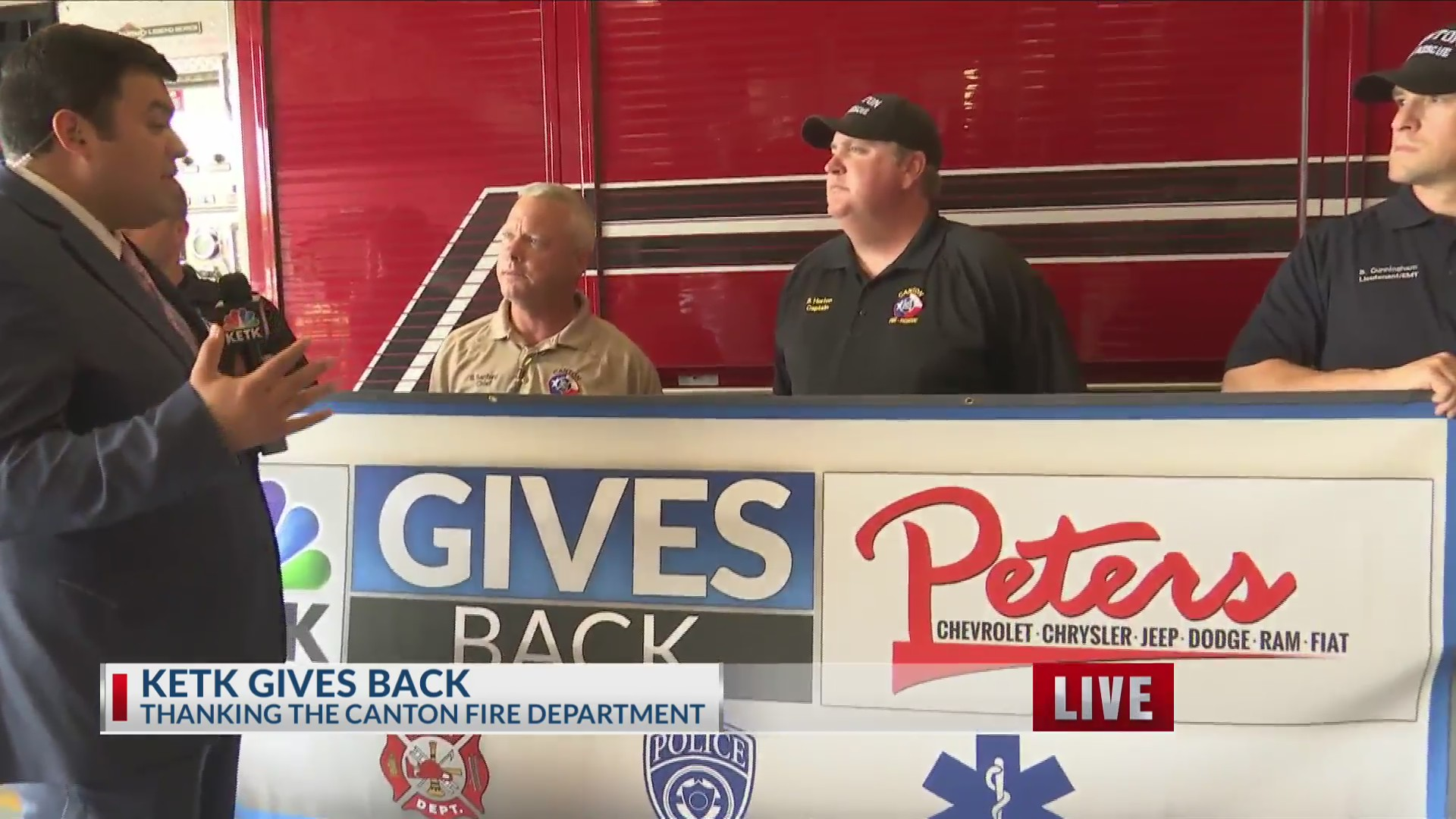 KETK gives back to Canton Fire Department | KETK | FOX51