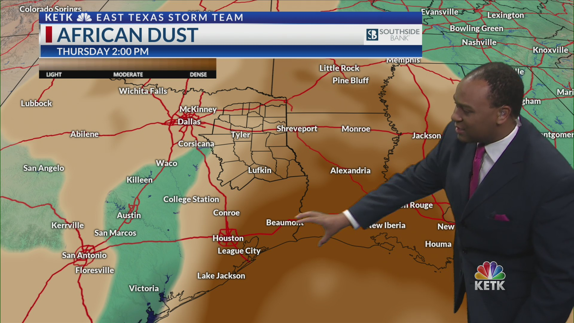 African dust becomes thicker Thursday, Friday   KETK   FOX51
