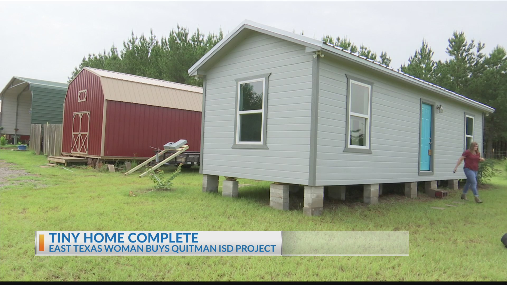 Image result for East Texan moves into Quitman high school's tiny home project