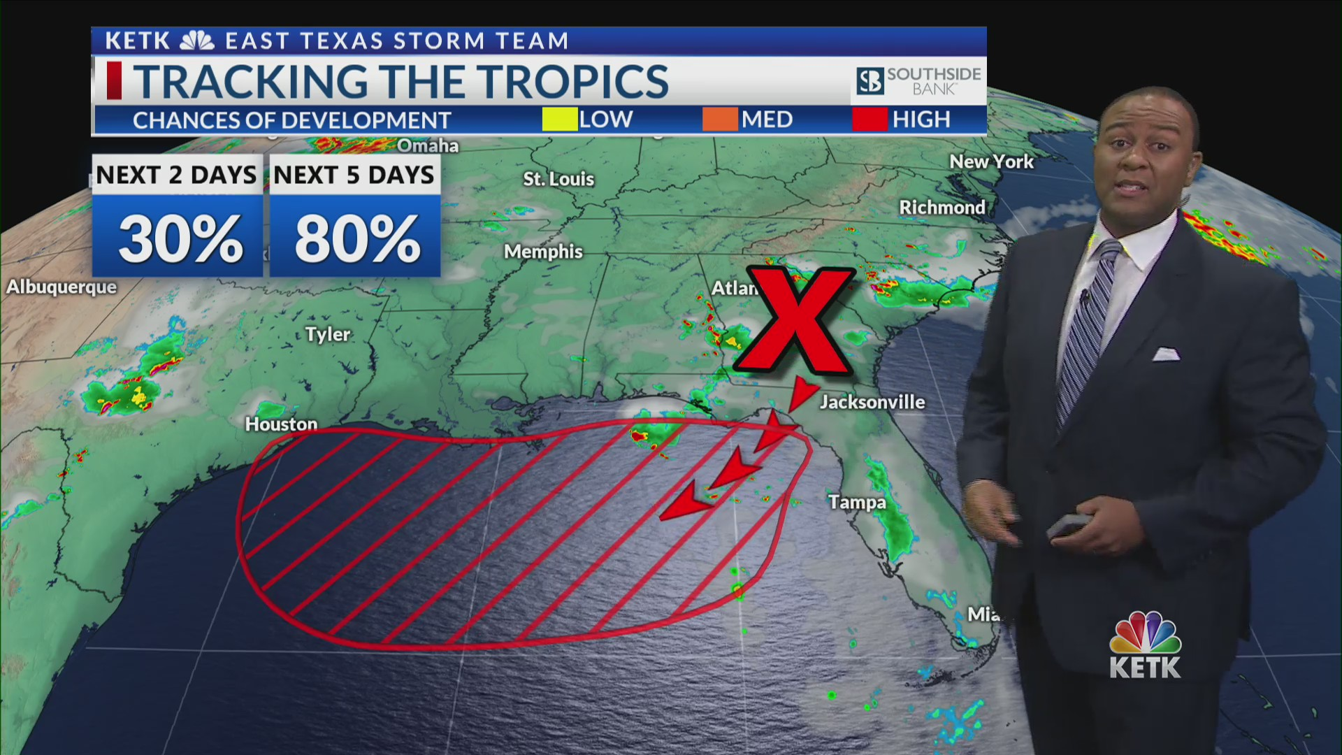 Monday Update: Tropical storm in Gulf could affect East