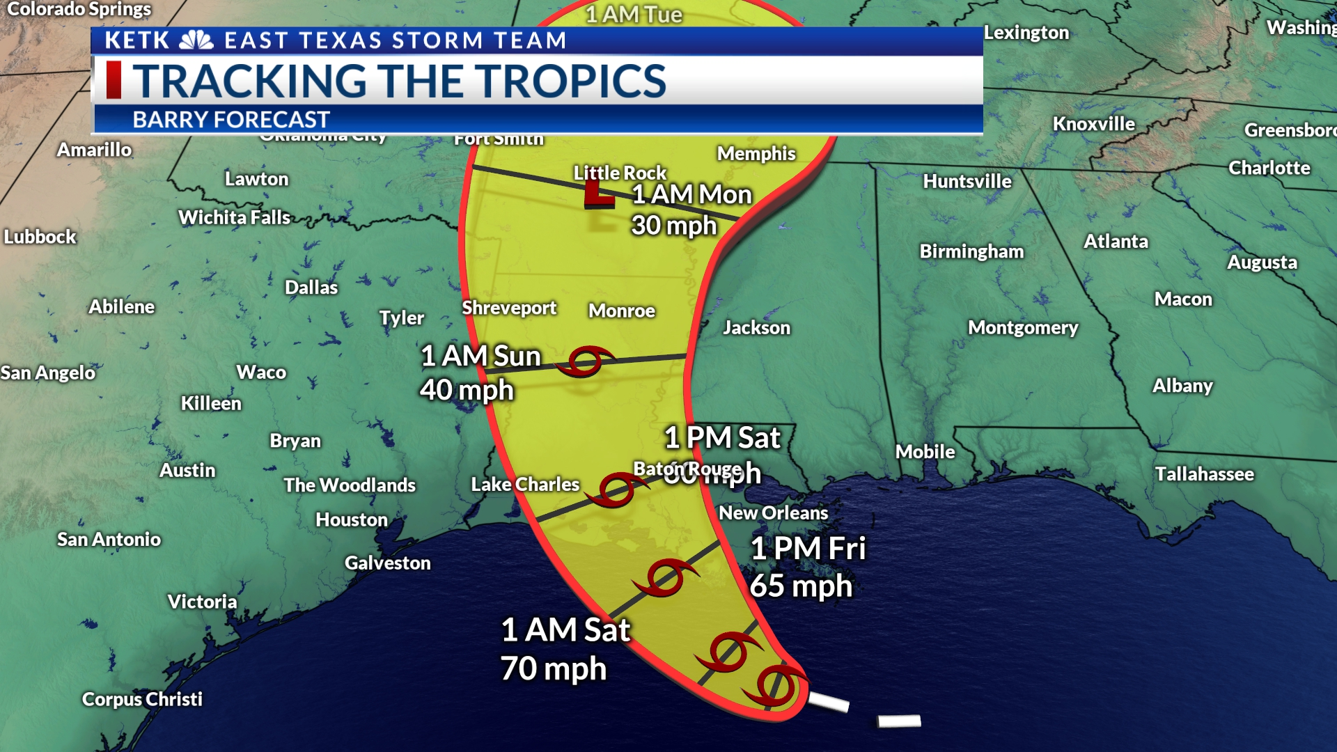 Tropical Storm Barry: Everything we know now | KETK | FOX51