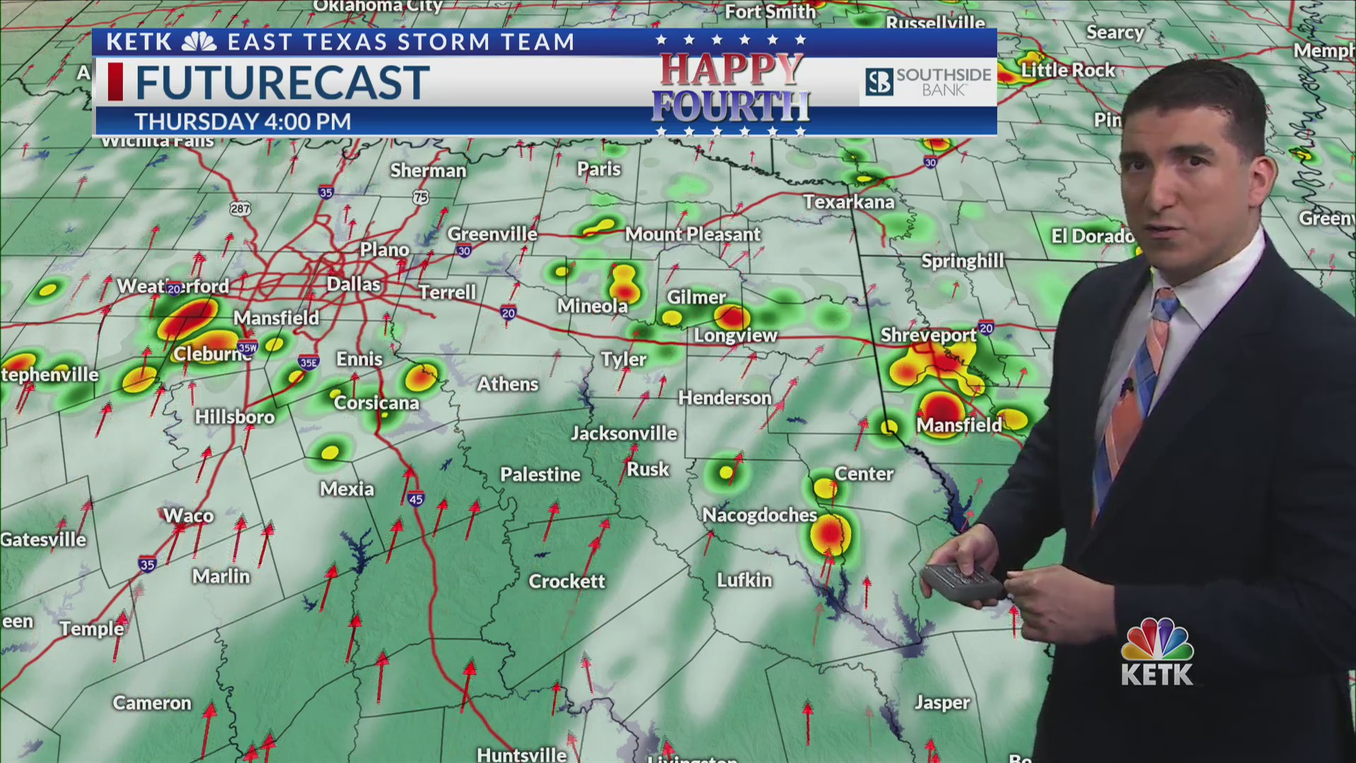 WEDNESDAY PM FORECAST: Variable clouds and humid