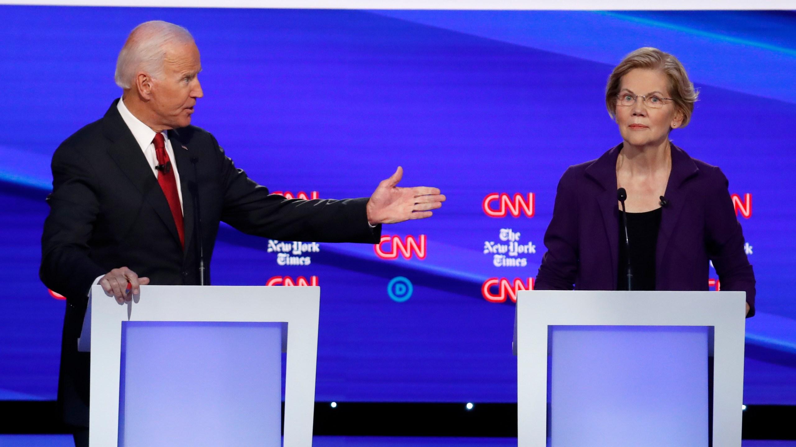 Joe Biden, Elizabeth Warren