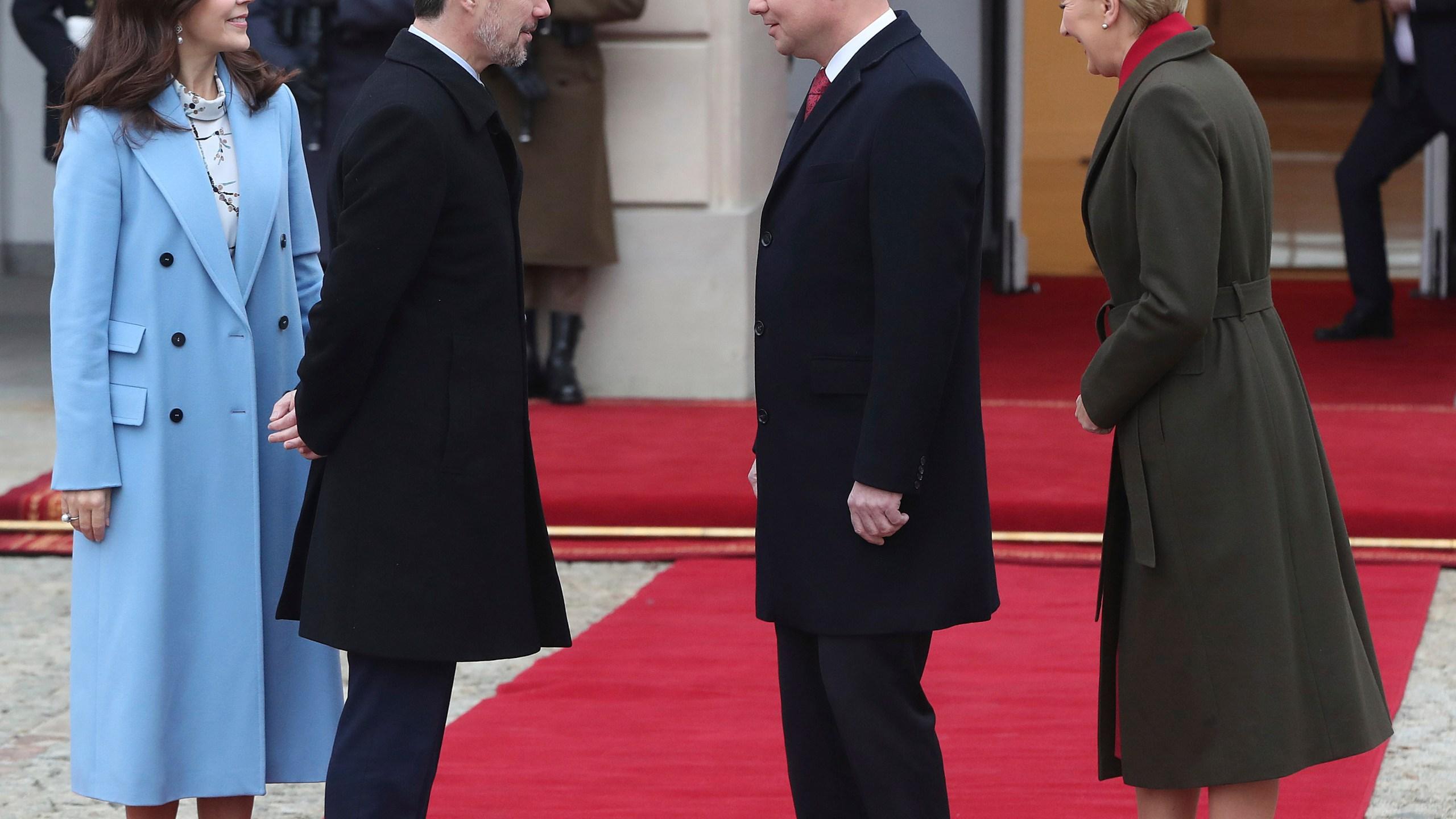 Prince Frederik, Princess Mary, Andrzej Duda, Agata Kornhauser-Duda