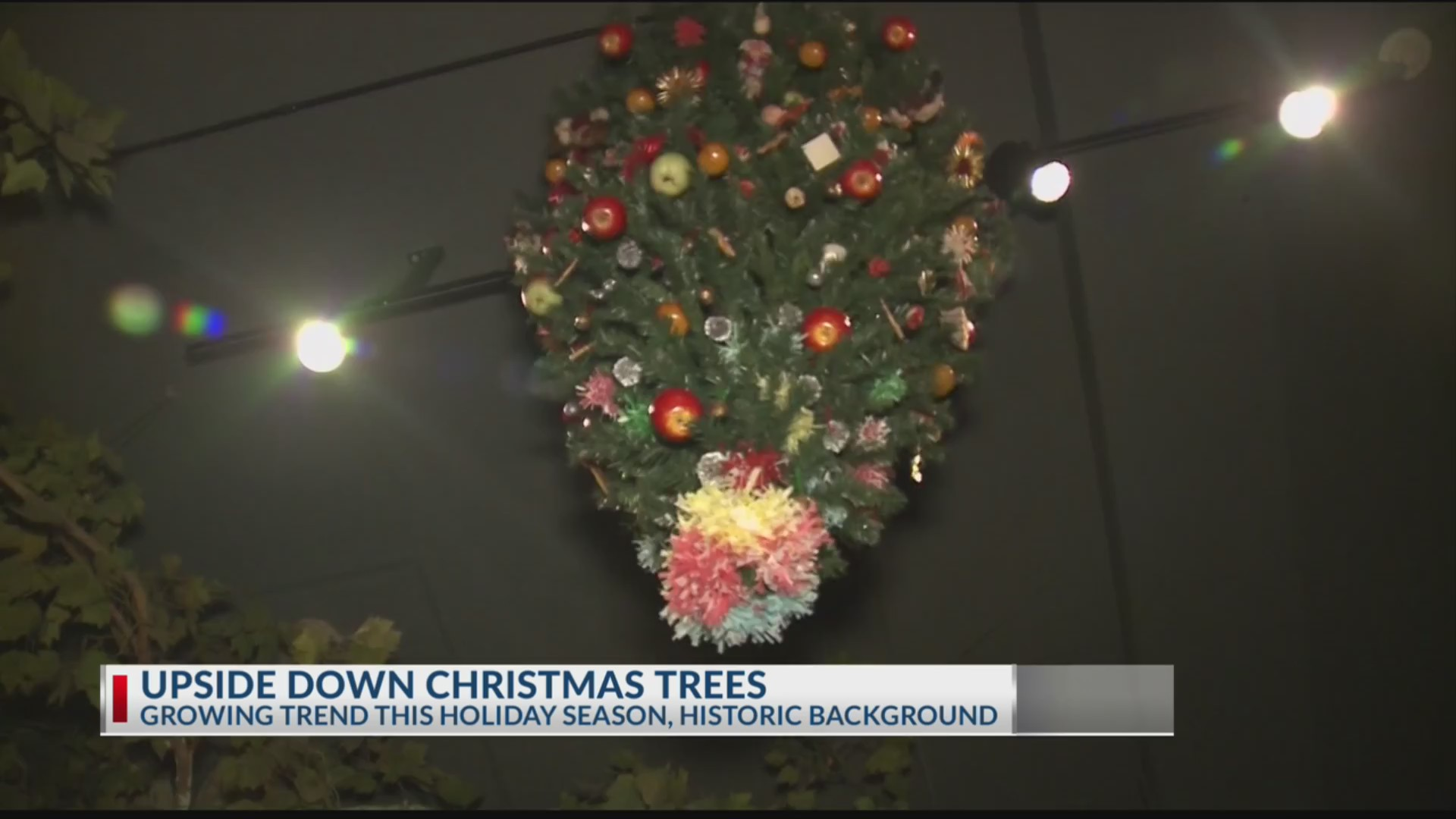 Upside down Christmas trees a trend this holiday season